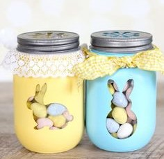 Bunny Treat Mason Jars