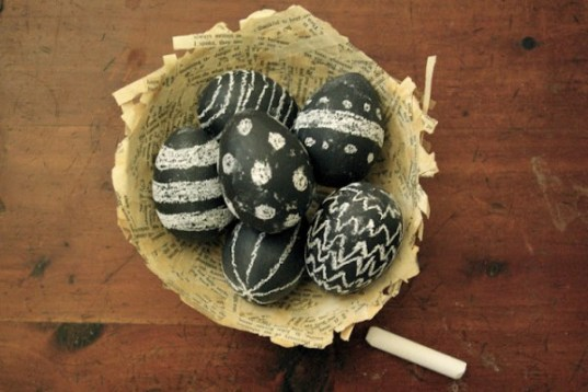 chalkboard egg