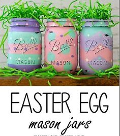 Easter egg mason jars