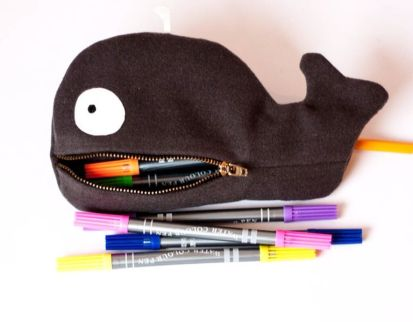 whale trail pouch